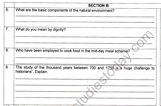 CBSE Class 7 Social Science Worksheet Set R 2