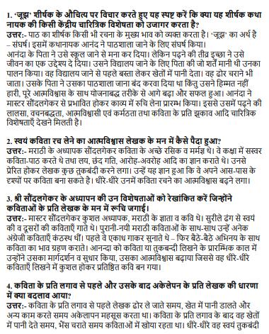 NCERT Solutions Class 12 Hindi Core Chapter Joojh