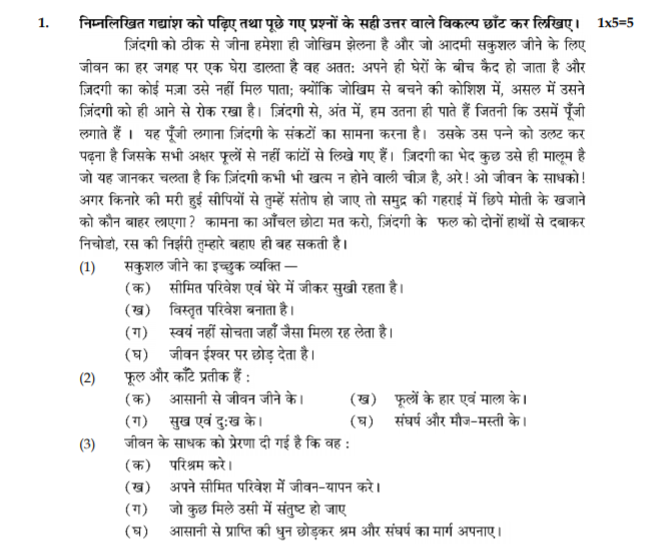 class_9_Hindi_Questions_paper_5