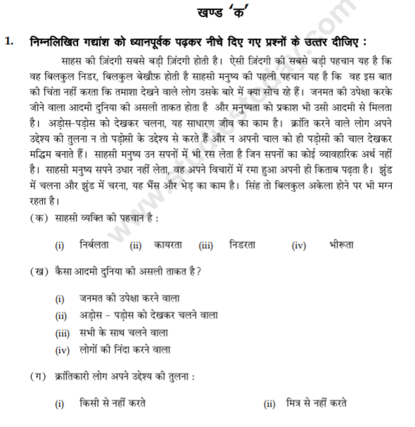 class_9_Hindi_Questions_paper_8