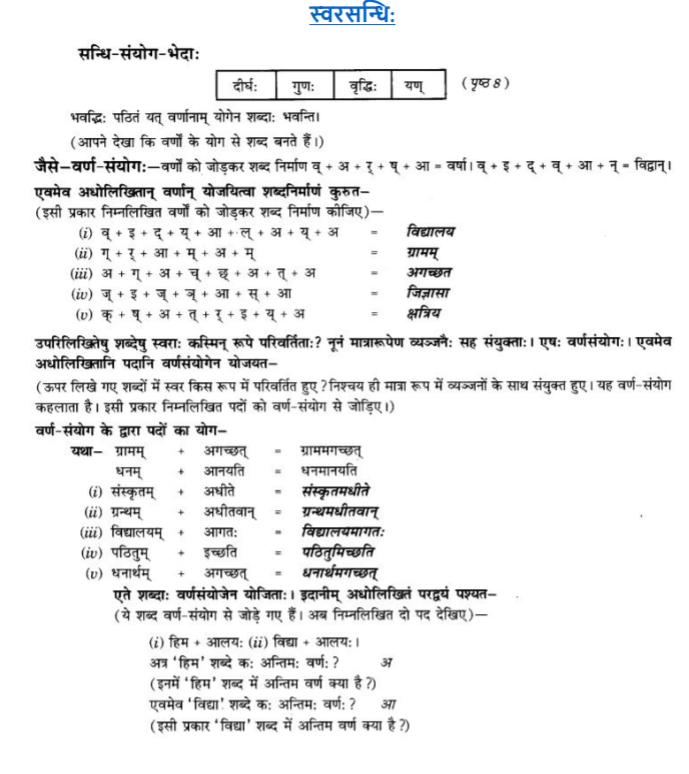 NCERT Solutions Class 9 Sanskrit Chapter 2 Sandhi Praknam