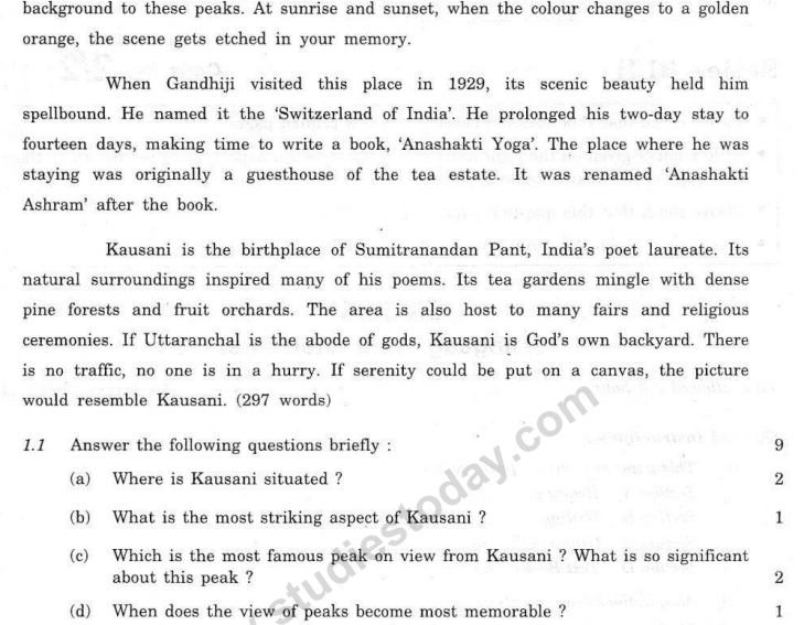 CBSE Class 10 English Language and Literature Question Paper 2008 (2)