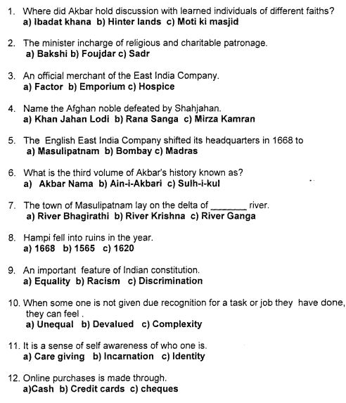 Class_7_Social_Science_Question_Paper_9