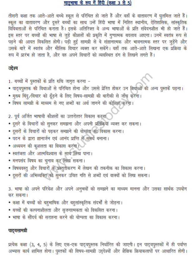 CBSE Class 4 NCERT Hindi Syllabus Latest Syllabus for Hindi issued