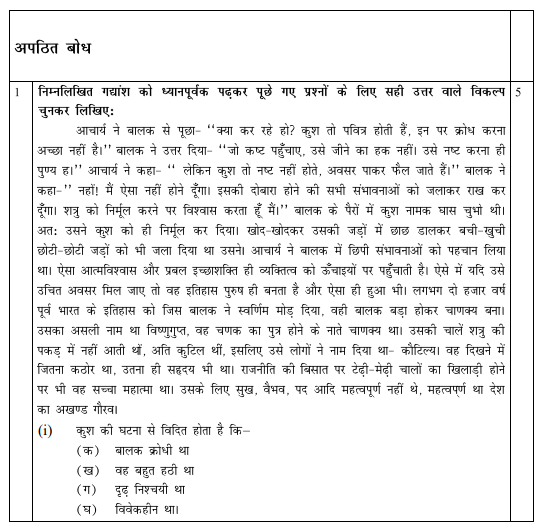 CBSE Class 10 Hindi Sample Paper SA2 2015