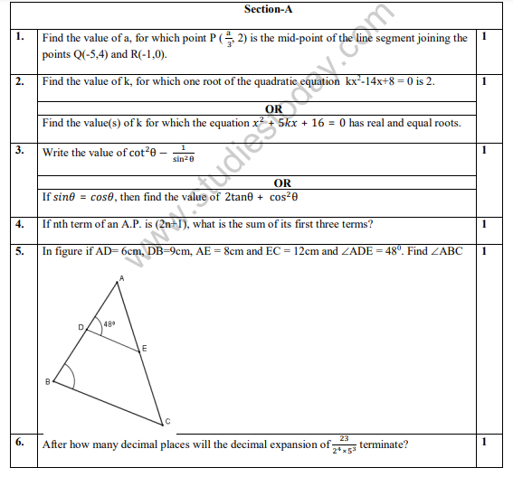 sample paper class 10 science 2019 pdf download