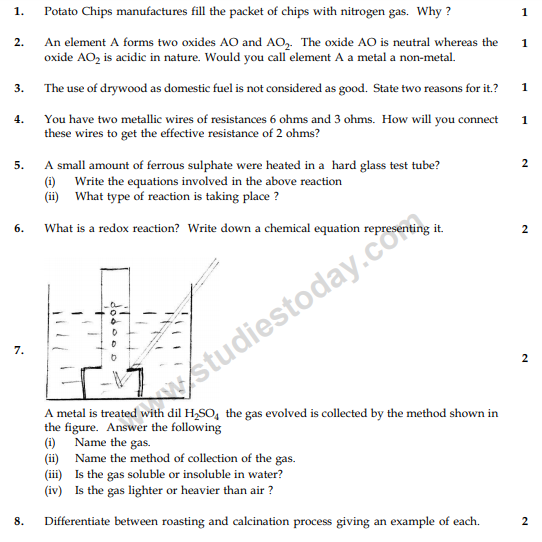 CBSE Class 10 Science Sample Paper 2014 (27)