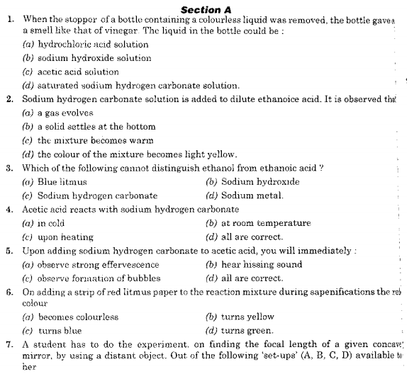CBSE Class 10 Science Sample Paper SA1 2015 (2)
