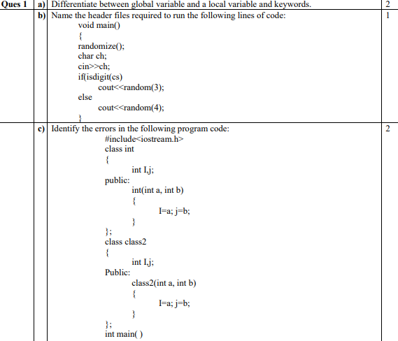 CBSE Class 12 Computer Science Sample Paper 2018 (2)