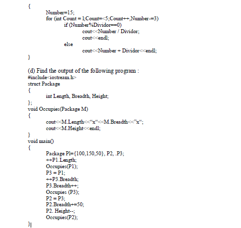 CBSE Class 12 Computer Science Sample Paper SA2 2015 (7)