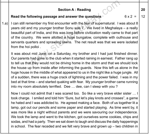 CBSE Class 12 English Elective Sample Paper 2009 (1)