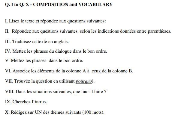 CBSE Class 11 French Sample Paper Set B