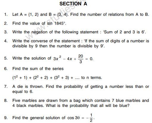 Class_11_Mathematics_Sample_Paper _28