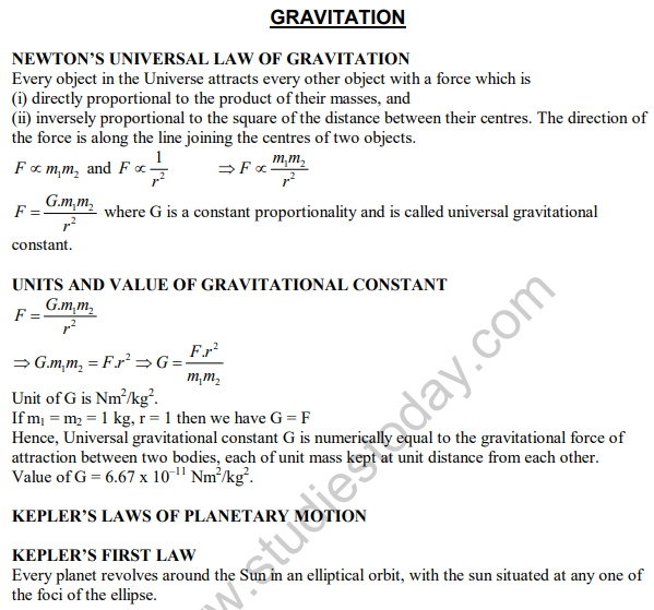 Force And Laws Of Motion Class 9 Notes