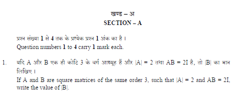 CBSE Class 12 Mathematics Question Paper Solved 2019 Set A