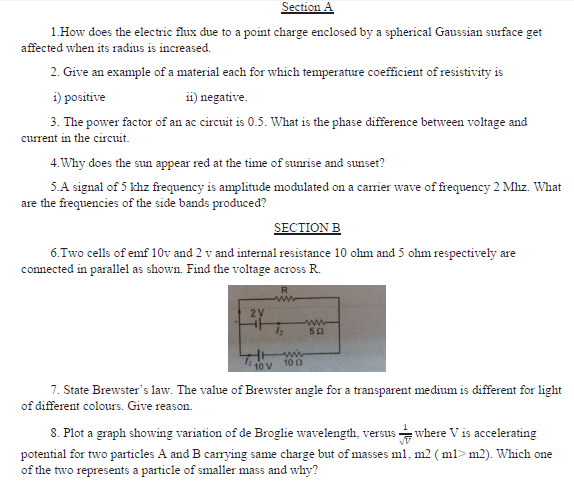 CBSE Class 12 Physics Sample Paper 2020 Solved (2)