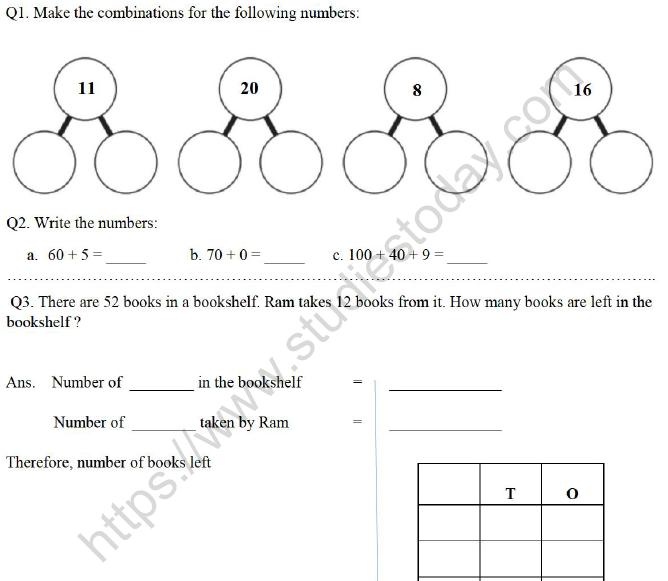 Tens And Ones Worksheet Class 2 - Preschool Worksheet Gallery