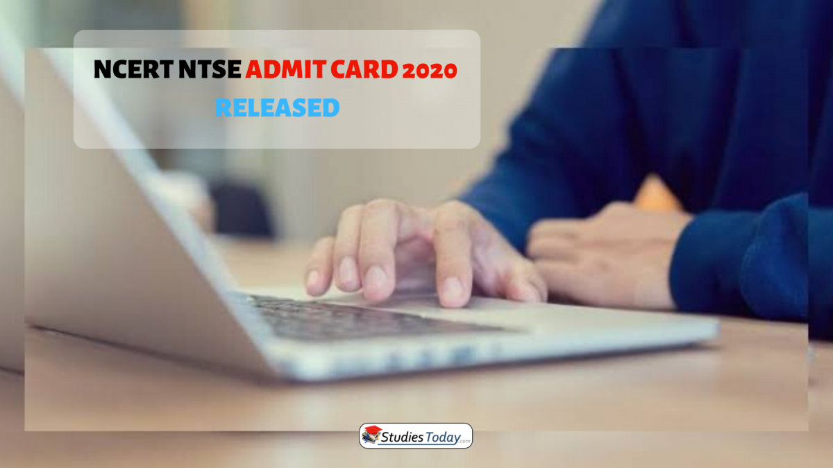 NCERT NTSE admit card 2020