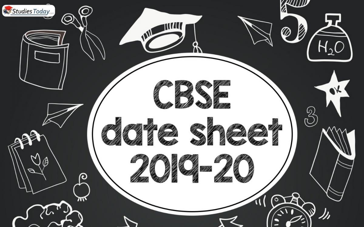 CBSE datesheet 2019-20