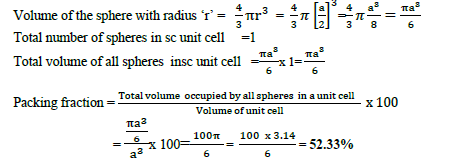 CBSE Class 12 Chemistry Solid State Important Questions and Answers Equation15