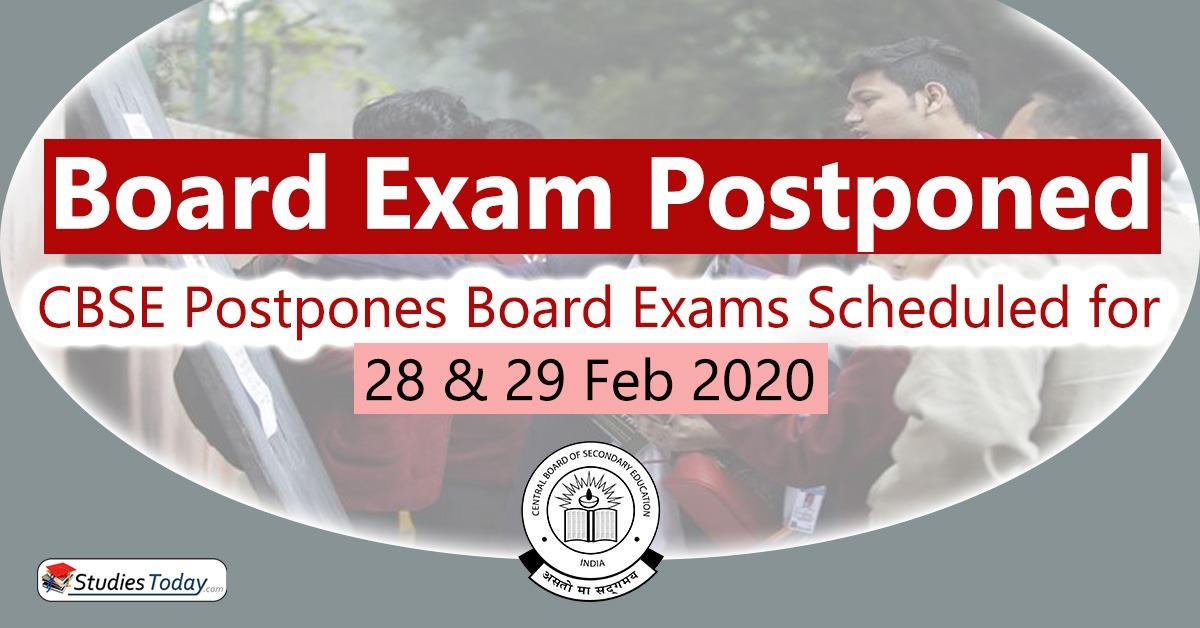Class 10 board exams 2020 postponed
