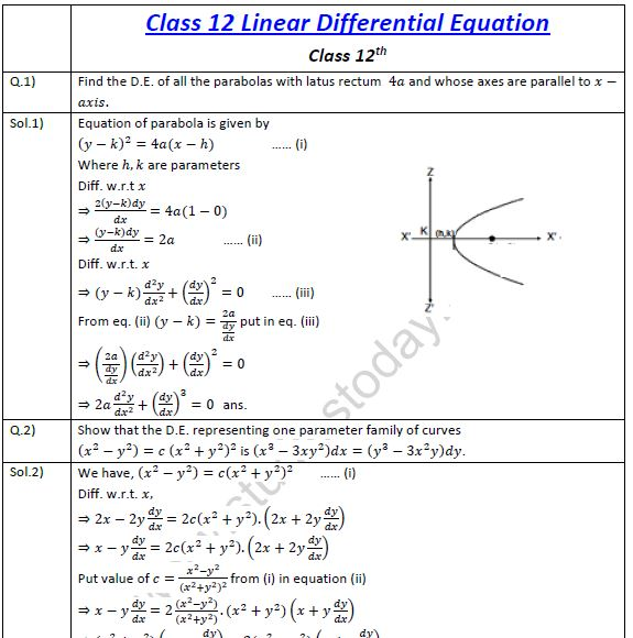 Differential Equations Worksheet on A Match Math Worksheet Switchconf