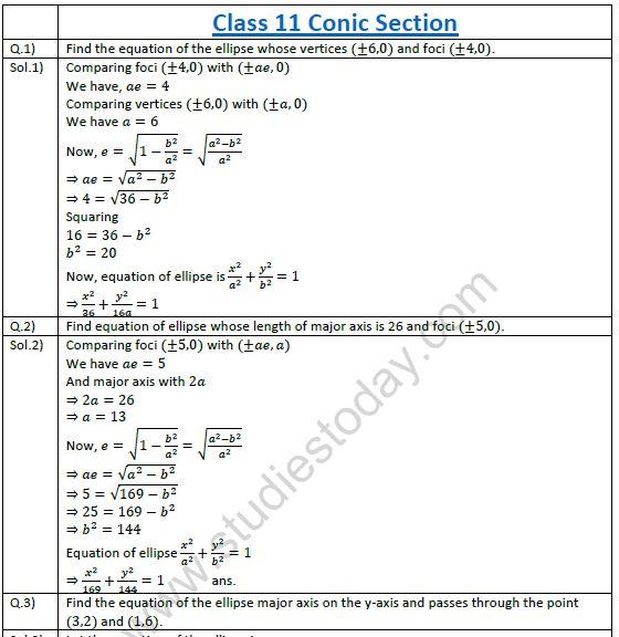 Conic Sections Worksheet Kidz Activities