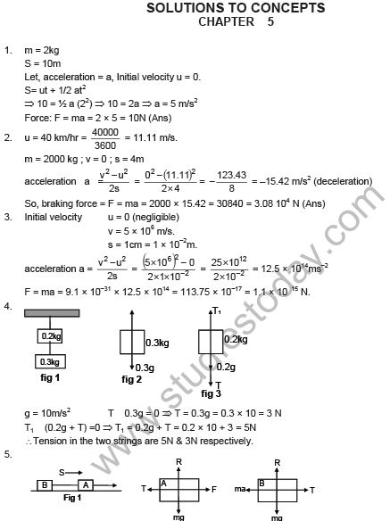 HC Verma Solutions Chapter 5 Newtons Laws of Motion