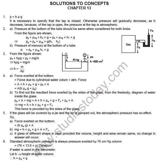 HC Verma Solutions Chapter 13 Fluid Mechanics