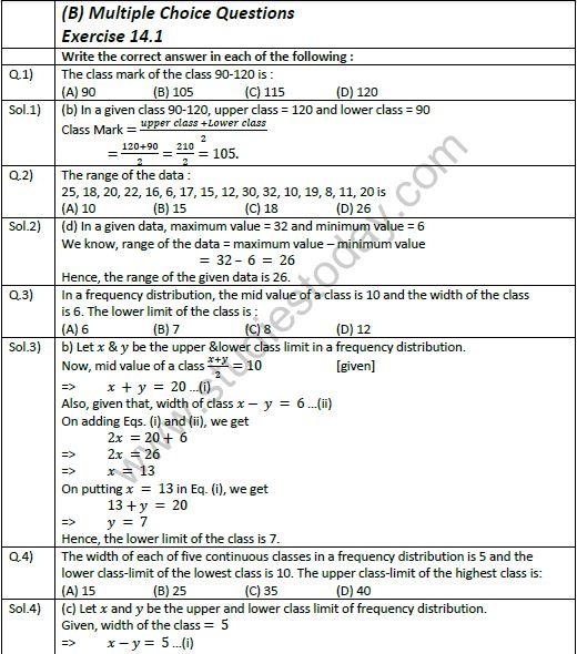 NCERT Class 9 Mathematics Chapter 14 Statistics and