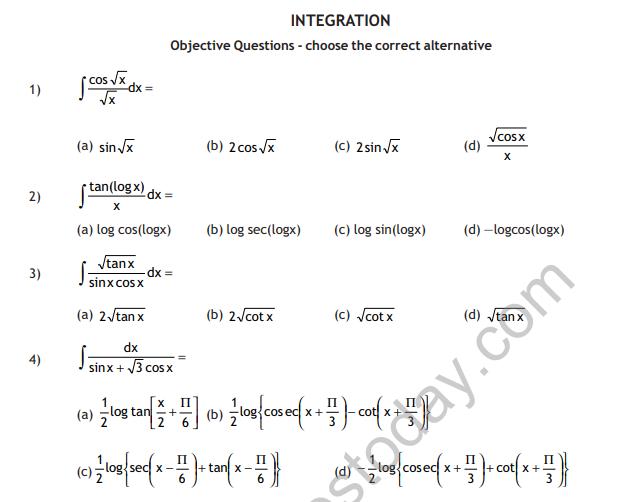 CBSE Class 12 Maths HOTs - Integration