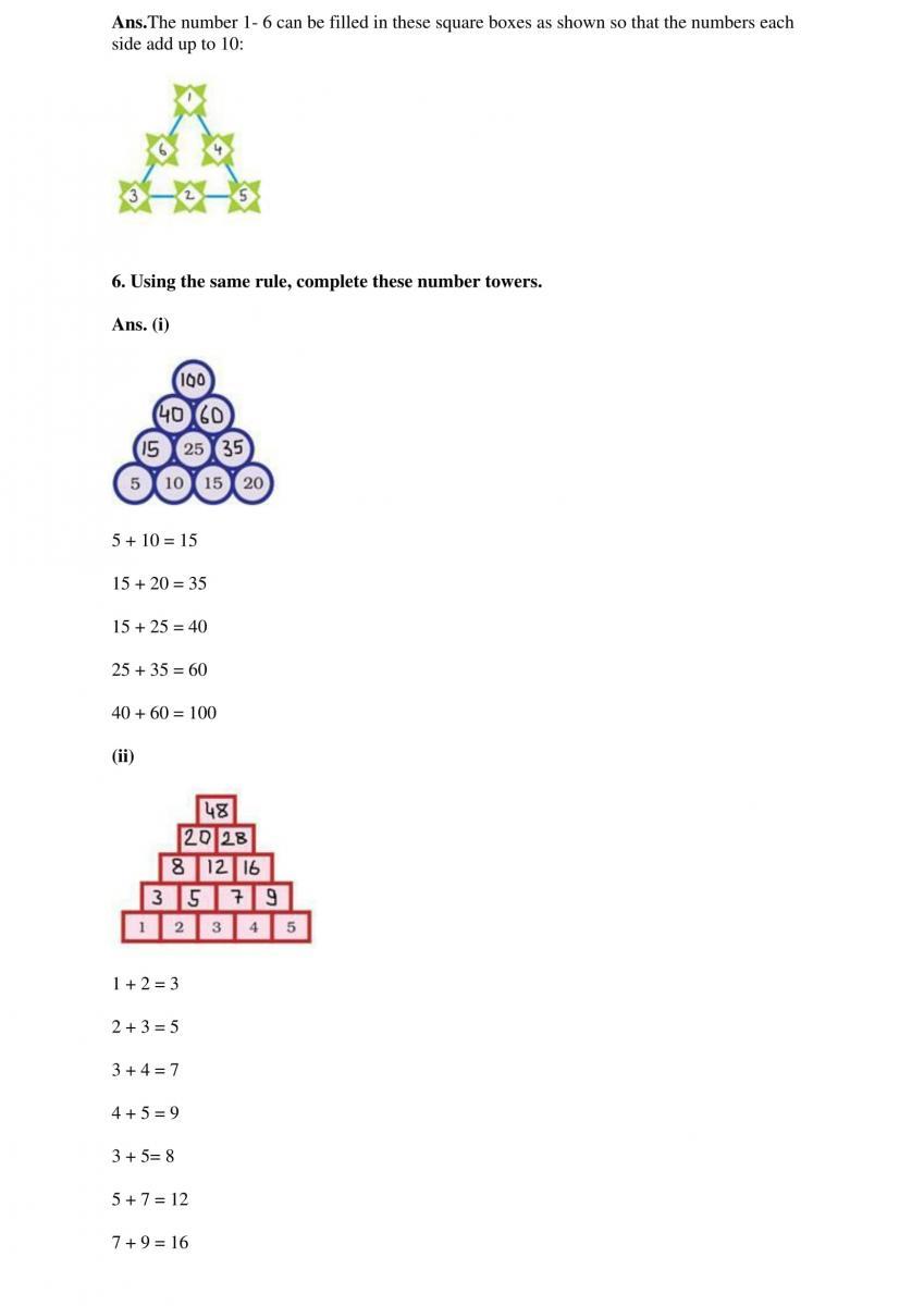 ncert solutions class  mathematics chapter  play with patterns ncert solutions ncert solutions