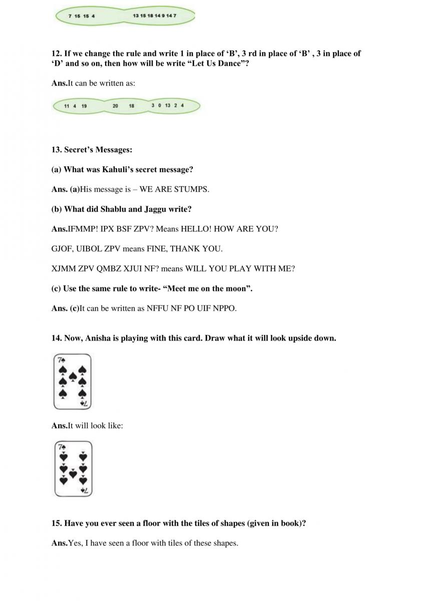 NCERT Solutions Class 4 Mathematics Chapter 10 Play With Patterns