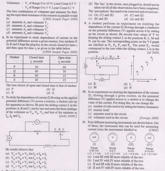 CBSE Class 10 Physics MCQs-All Chapters-Set 2, Multiple