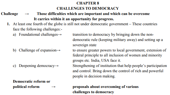 Image result for cbse notification on democracy chapters