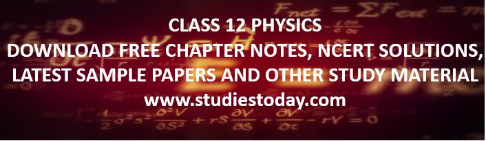 class_12_physics_notes_ncert_solutions