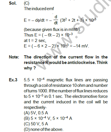 CBSE Class 12 Physics Electromagnetic Induction Solved Examples