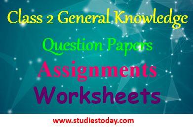 class_2_gk_sample_paper_question_ncert_books_worksheet