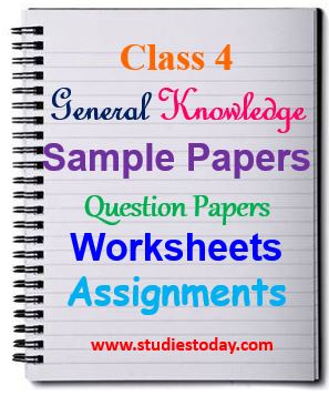 Class 4 General Knowledge | GK Questions Worksheets Assignments