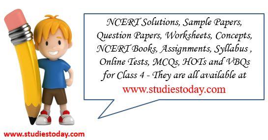 Class 4 Maths, English, Science, Hindi Worksheets NCERT