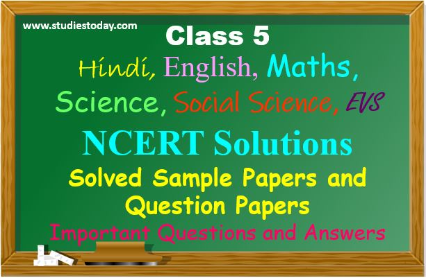 CBSE Class 5 Maths English Science Question Papers, Syllabus