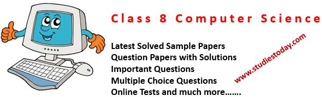 Class 8 Computer Science books Sample Papers Question Papers