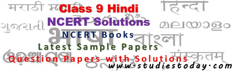 Class 9 Hindi NCERT Solutions, books and guides, chapter